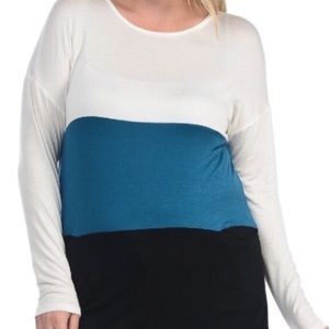 Tops - Super Soft & Comfy! Plus Size Color Block Tee